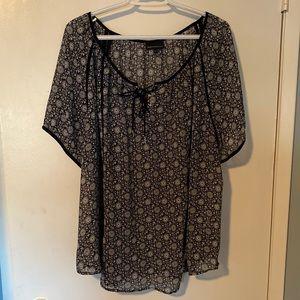 Beautiful sheer short sleeve blouse, 20